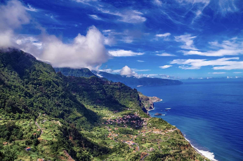 Vista sul mare di Madeira